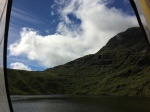 Tent view at Angle Tarn, Cumbria